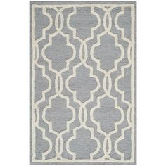 Safavieh Handmade Moroccan Cambridge Silver Wool Rug (2' x 3')