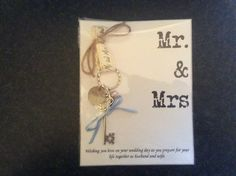 Lucky key for wedding, something blue ribbon. Pin to dress or bouquet