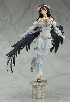 Origin: Overlord Character: Albedo Company: Good Smile Company (Manufacturer) Artists: ehenmushi (Sculptor), Luu (Color producer) Materials: ABS, PVC Scale: 1/8 #lightnovel#PVC#ABS#figure#demon#succubus#wings#whitedress#horns#goodsmile