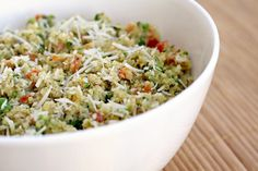 Creamy quinoa primavera-looks delicious and easy!