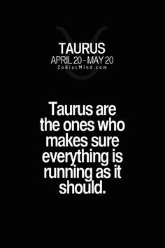 Taurus Are the ones that make sure everything is running as it should. Perfect job - train engineers!