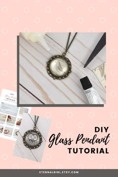 Looking for simple gift ideas? Get this free DIY glass pendant tutorial, which uses glass tiles to make a handmade photo necklace. #glasstilependant #glasstilenecklace #diypendant #diynecklace #diygiftideas #photopendant Glass Tile Pendant, Glass Tiles, Glass Pendants, Necklace Tutorial, Diy Necklace, Pendant Necklace, Simple Earrings, Simple Jewelry, Simple Gifts