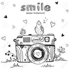 Vector - illustration sketch vintage retro photo camera