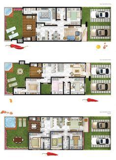 projetos de apartamentos geminados