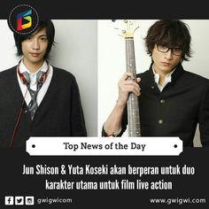 JUN SHISON DAN YŪTA KOSEKI AKAN BERPERAN UNTUK DUO KARAKTER UTAMA UNTUK FILM LIVE-ACTION ANONYMOUS NOISE  Situs resmi dari film live-action Anonymous Noise (Fukumenkei Noise) dari manga shojo berjudul karya Ryoko Fukuyama mengumumkan bahwa pemeran utama akan diperankan oleh Jun Shison sebagai Yuzu (kiri) dan Yūta Koseki sebagai Momo (kanan). Yuk baca artikel lengkapnya disini  http://ift.tt/2fPjcfQ #love #tweegram #photooftheday #amazing #followme #picoftheday #cute #summer #me #instadaily…