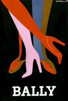 affiche Bally : les jambes - L'affiche française