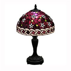 Warehouse of Tiffany MB25+PS232 TiffanyStyle Table Lamp, Bronze  - Lighting Universe