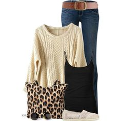 """PULLOVER SWEATER & JEANS"" by colierollers on Polyvore"