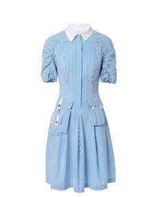 Gestreiftes Kleid 'Mozina1' Weiß/Blau von Talbot Runhof | UNGER-FASHION.com