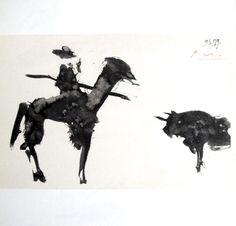 """Pablo Picasso, signed Lithograph """"Toros Y Toreros"""", 1959"""