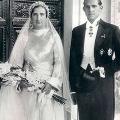 Miss Honoria Glossop:  Wedding of Infante Juan of Spain, third son of King Alfonso XIII and Queen Victoria Eugenie of Spain, and Infanta Maria de las Mercedes of Boubon Two-Sicilies, October 12, 1935.
