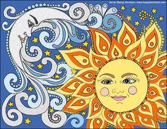 ☼ Sun & Moon ☾ Art by Mariya Kovalyov, www.happyfamilyart.com