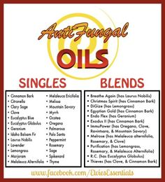 Anti-fungal treatment naturally with Young Living oils. Learn about oils from Www.Theoildropper.Com