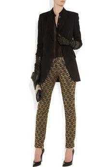 Balmain                               Metallic jacquard pants