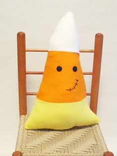 Butten Eyed Plush Candy Corn Toy or by AureliasLovelies on Etsy, $13.00