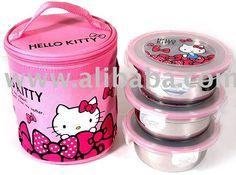 Lunchbox with stainless steel containers. Hello Kitty Clothes, Hello Kitty Jewelry, Hello Kitty Bag, Hello Kitty Birthday, Hello Kitty Bedroom, Hello Kitty Handbags, Hello Kitty Kitchen, Hello Kitty Themes, Hello Kitty Collection