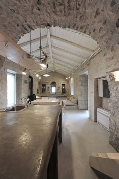 Traditional tower-house situated in Greece, completely redesigned by Z-level Architecture. Exterior Design, Interior And Exterior, Interior Design Living Room, Interior Decorating, Tower House, Brick And Stone, Stone Houses, Deco Design, Interior Architecture