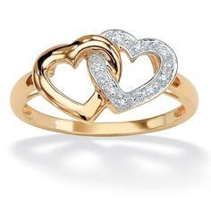 PalmBeach Jewelry Diamond Accent 18k Yellow Gold  ($110)