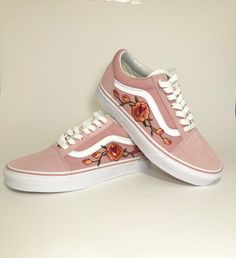 686729a9c81d33 Pink Vans old skool custom vans shoes Vans old skool rose Vans Shoes Kids
