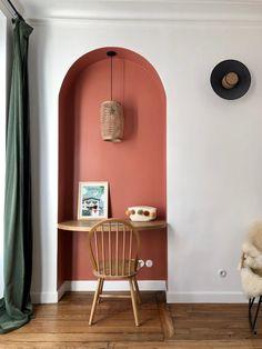 Showroom Interior Design, Bathroom Interior Design, Bedroom Orange, Bedroom Colors, Farrow And Ball Living Room, Bohemian Bedroom Decor, Diy Sofa, Bed Wall, My New Room