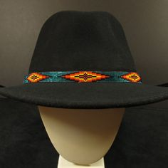 Turquoise Beaded Hat Band