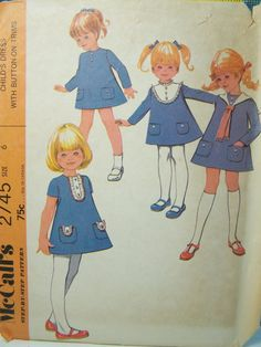 McCall's 2745 Girl's Dress Sewing Pattern Vintage by WitsEndDesign