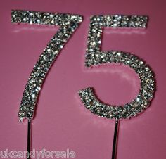 Great for a centerpiece! Diamonds, symbol for 75, would be pretty in flower arrangement or photo bouquet!