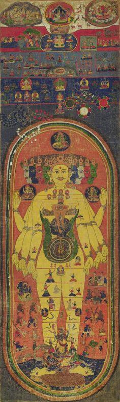 """""""Vishnu. Vishvarupa, #Nepal Hindu Lineage. 1700s. """""""