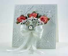 Amazing Paper Grace - beautiful card, love the lacy cones holding the flowers