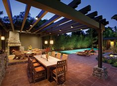 Outdoor lighting │David Tisherman's Visuals, Inc.; Photo courtesy of © Costea Photography http://www.luxurypools.com/blog/entryid/192/outdoor-room-accessories-pillows-curtains-rugs-wall-decor.aspx