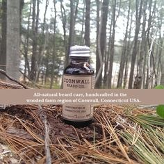 Cornwall Beard Oil: All-natural beard care inspired by the woodlands of New England. Buy at: www.beardcareproducts.com/product/cornwall-beard-oil