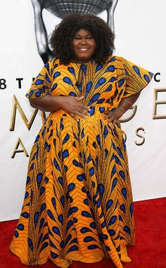 Gabourey Sidibe Shut Down The Red Carpet At The NAACP Image Awards In A custom African Print Dress