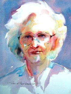 Pat Weaver watercolour portrait - love the colours Watercolor Art Face, Watercolor Portraits, Painting People, Figure Painting, Portrait Images, Portrait Art, People Illustration, Illustrations, Beauty In Art