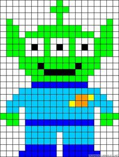 Tos Story Alien perler bead pattern