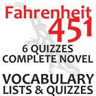 FAHRENHEIT 451 Vocabulary Complete Novel (180 words)  These 180 vocabulary words from Lord of the Flies will help students engage in the language o...