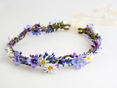 Haarblüten - Blumenkrone / Blumenkranz / Heidekraut - ein Designerstück von LolaWhite bei DaWanda