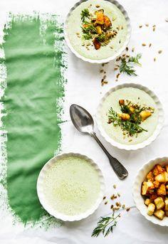 Kylmä jogurtti-hernekeitto | K-Ruoka Koti, Halloumi, Camembert Cheese, Soup Recipes, Soap Recipes