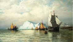 William Bradford Labrador Fishing Boats near Cape Charles hand embellished reproduction on canvas by artist William Bradford, Famous Artists, Great Artists, Labrador, Cape Charles, New Bedford, Oil Painting Reproductions, Fishing Boats, Fishing Rod
