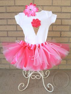 HAPPY VERY BERRY Ice Cream Cone 3D Onesie and Tutu by HAPPYBUBKIN, $45.00