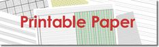 Free Printable Paper: graph paper, lined paper, financial paper, music paper, and more
