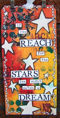 ten thirty-six arts and crafts ... ellen vargo: New Dylusions Tag - Reach for the Stars