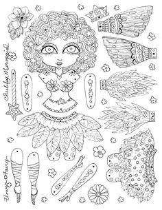 Paper Doll Fairy Instant Download Flower Fairy Sie der Künstler sein