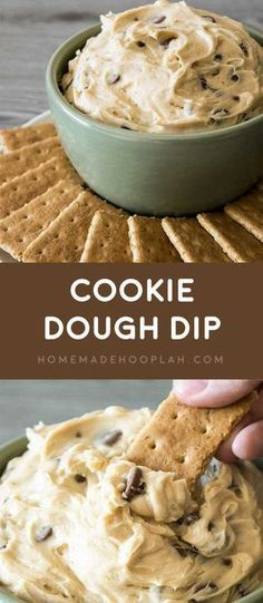 Dazzle your guests by serving up dessert first with this ultra-creamy cookie dough dip with chocolate chips. It's also eggless and no-bake! Dessert Aux Fruits, Dessert Dips, Dessert Recipes, Dip Recipes, Cookie Dough Dip, Chocolate Chip Cookie Dough, Chocolate Chips, Chocolate Tarts, Cocoa Chocolate