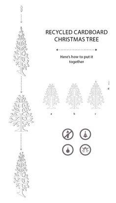 Cardboard tree M por cardboardchristmas en Etsy