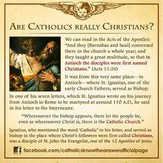 "Catholic means ""universal."""