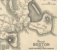 1635 plan for boston (george lamb)