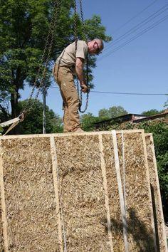 DOM ZE SŁOMY, gliny i drewna Straw Bale Construction, Park, Design, Furniture, Parks