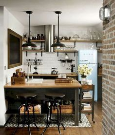 If you are looking for Industrial Kitchen Decor, You come to the right place. Here are the Industrial Kitchen Decor. This post about Industrial Kitchen Decor was . Rustic Kitchen, Kitchen Decor, Kitchen Ideas, Kitchen Small, Kitchen Island, Kitchen Layouts, Kitchen Trends, Design Kitchen, Country Kitchen