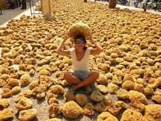 """Kalymnos shop"" natural sponges   Living Postcards - The new face of Greece"