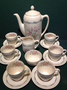 15 Piece Coffee Set For Six people - Royal Doulton Fairfield Coffee Pot Cups ETC